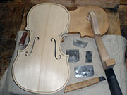 Violin production photogallery